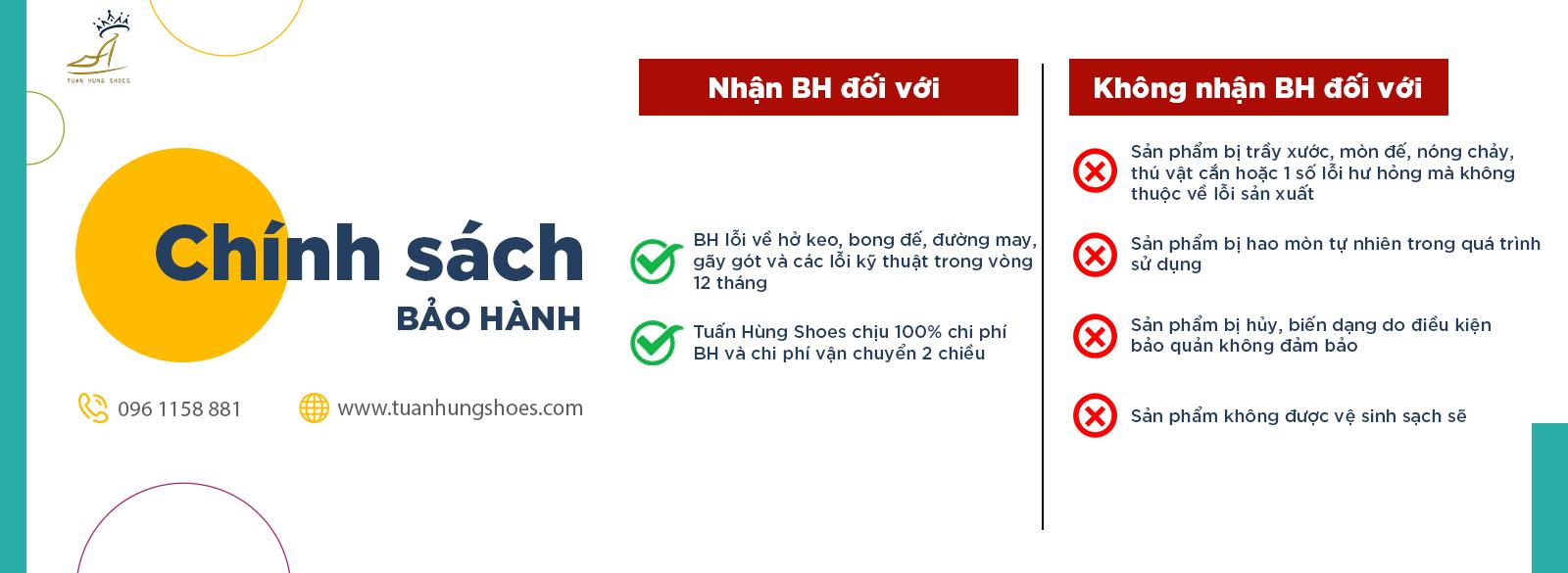 chinh sach bao hanh tuan hung shoes